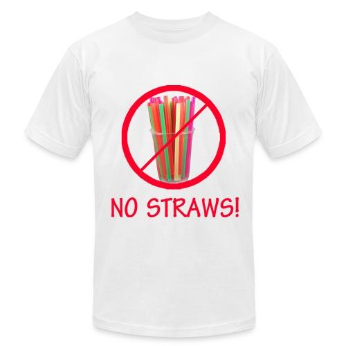 No Straws - Men's Fine Jersey T-Shirt