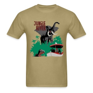 Jungle River- Vintage Disneyland Poster Style - Men's T-Shirt