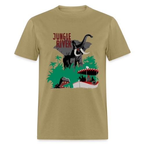 Jungle River- Vintage Disneyland Poster Style - Men's T-Shirt