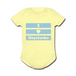 Haystacks 1 Color Baby - Short Sleeve Baby Bodysuit