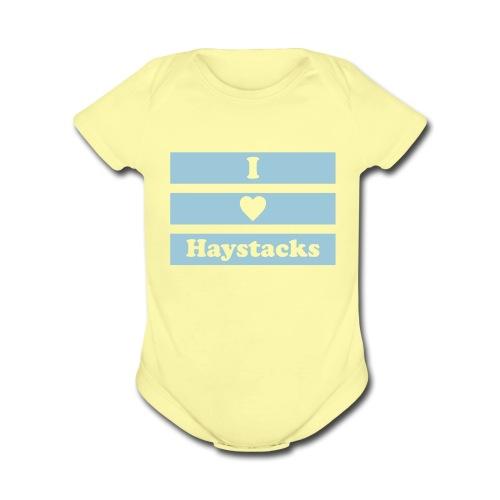 Haystacks 1 Color Baby - Organic Short Sleeve Baby Bodysuit