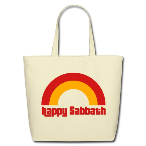 Happy Sabbath 2 Color Tote - Eco-Friendly Cotton Tote