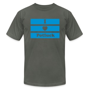 Potluck 1 Color Mens - Men's Fine Jersey T-Shirt