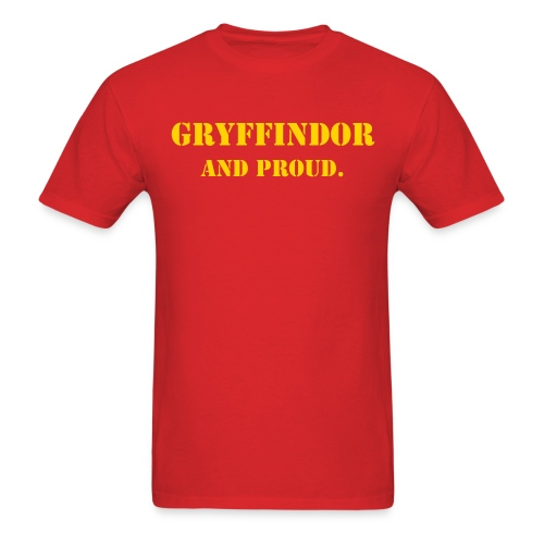 Gryffindor and proud. T-shirt - Men's T-Shirt