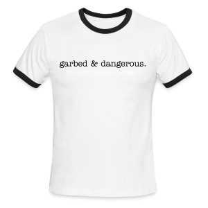 not garbed & dangerous -- men's ringer tee in blue - Men's Ringer T-Shirt