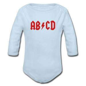 AB/CD - Long Sleeve Baby Bodysuit