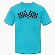 two checkered flags RACING MOTOR SPORTS T-Shirts