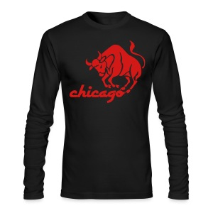 Vintage Style Bulls Men's American Apparel Long Sleeve  - Men's Long Sleeve T-Shirt by Next Level