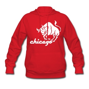 Vintage Style Bulls Women's Hooded Sweatshirt - Women's Hoodie