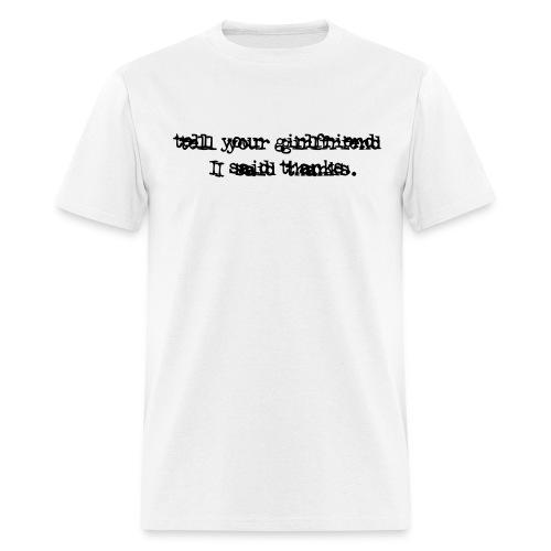 White Thank You - Men's T-Shirt
