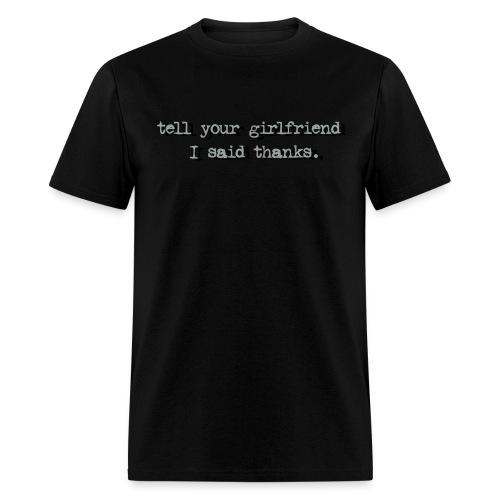 Black Thank You - Men's T-Shirt