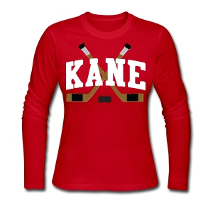 Chicago Kane Hockey Sticks Women's Long Sleeve Jersey Tee - Women's Long Sleeve Jersey T-Shirt