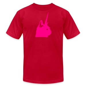 Men's Pink Unicat - Men's T-Shirt by American Apparel