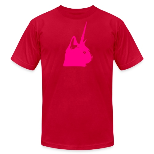Men's Pink Unicat - Men's Fine Jersey T-Shirt