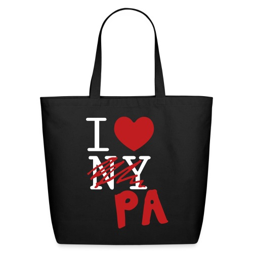I Love (PA) Pennsylvania - Eco-Friendly Cotton Tote