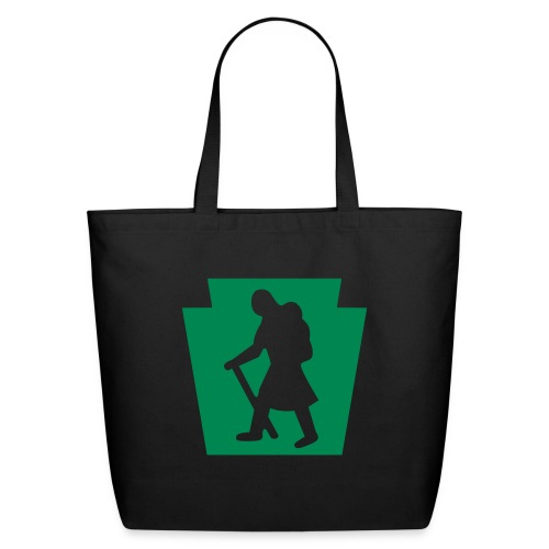 PA Keystone w/Female Hiker - Eco-Friendly Cotton Tote