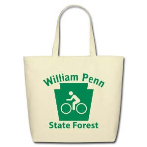 William Penn State Forest Keystone Biker - Eco-Friendly Cotton Tote