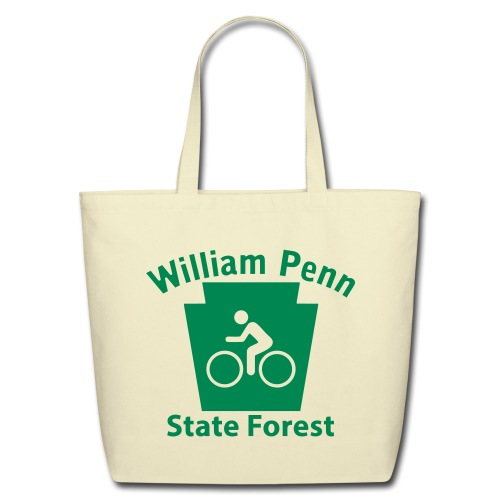 William Penn State Forest Keystone Biker - Eco-Friendly Cotton Tote