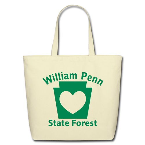 William Penn State Forest Keystone Heart - Eco-Friendly Cotton Tote