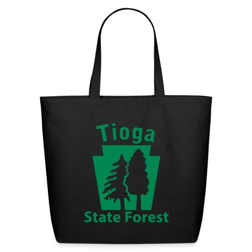 Tioga State Forest Keystone w/trees - Eco-Friendly Cotton Tote