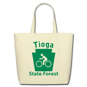 Tioga State Forest Keystone Biker - Eco-Friendly Cotton Tote