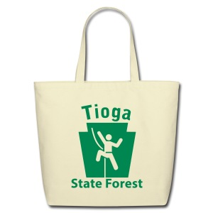 Tioga State Forest Keystone Climber - Eco-Friendly Cotton Tote