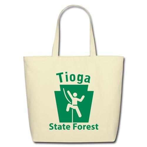 Tioga State Forest Keystone Climber - Eco-Friendly Cotton Tote