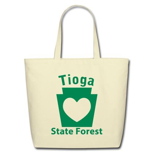 Tioga State Forest Keystone Heart - Eco-Friendly Cotton Tote