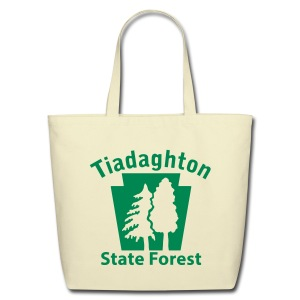 Tiadaghton State Forest Keystone w/Trees - Eco-Friendly Cotton Tote