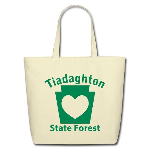 Tiadaghton State Forest Keystone Heart - Eco-Friendly Cotton Tote
