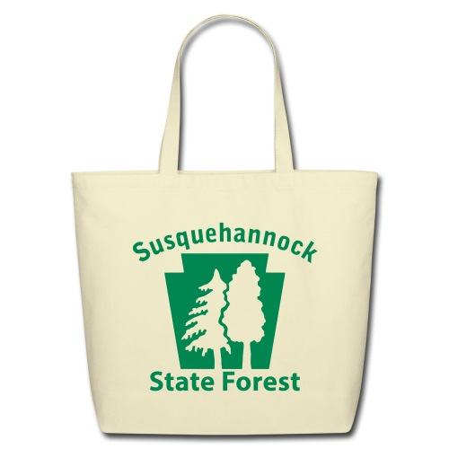 Susquehannock State Forest Keystone w/Trees - Eco-Friendly Cotton Tote