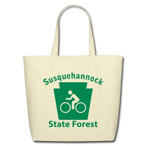 Susquehannock State Forest Keystone Biker - Eco-Friendly Cotton Tote