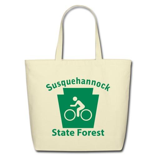 Susquehannock State Forest Keystone Biker - Eco-Friendly Cotton Tote