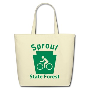 Sproul State Forest Keystone Biker - Eco-Friendly Cotton Tote