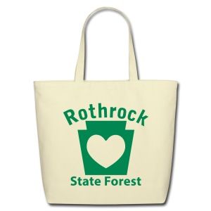 Rothrock State Forest Keystone Heart - Eco-Friendly Cotton Tote