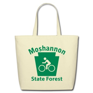 Moshannon State Forest Keystone Biker - Eco-Friendly Cotton Tote