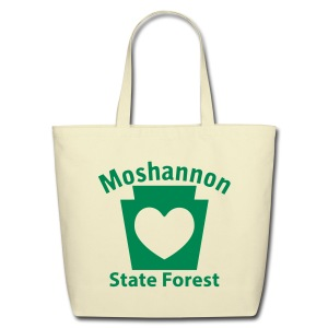 Moshannon State Forest Keystone Heart - Eco-Friendly Cotton Tote