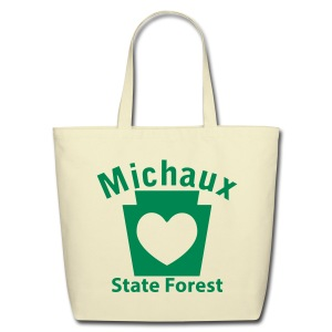 Michaux State Forest Keystone Heart - Eco-Friendly Cotton Tote