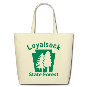 Loyalsock State Forest Keystone w/Trees - Eco-Friendly Cotton Tote