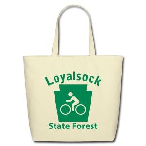 Loyalsock State Forest Keystone Biker - Eco-Friendly Cotton Tote