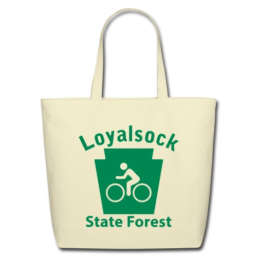 Loyalsock State Forest Keystone Biker - Eco-Friendly Cotton Tote
