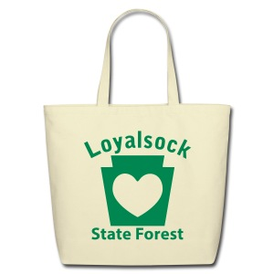 Loyalsock State Forest Keystone Heart - Eco-Friendly Cotton Tote