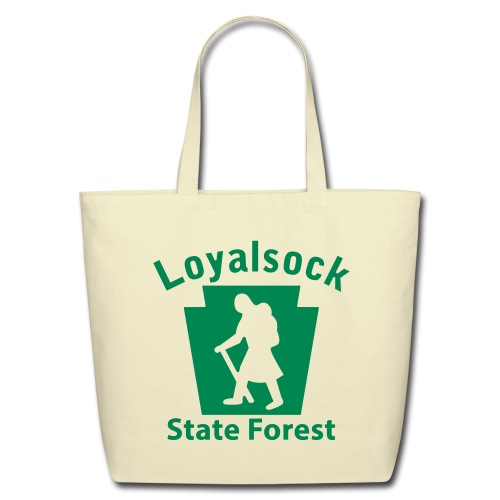 Loyalsock State Forest Keystone Hiker (female) - Eco-Friendly Cotton Tote
