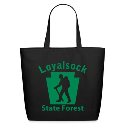 Loyalsock State Forest Keystone Hiker (male) - Eco-Friendly Cotton Tote
