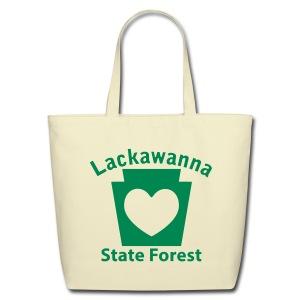 Lackawanna State Forest Keystone Heart - Eco-Friendly Cotton Tote