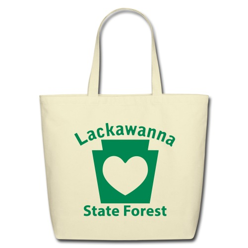 Lackawanna State Forest Keystone Heart - Eco-Friendly Cotton Tote