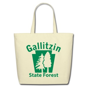 Gallitzin State Forest Keystone w/Trees - Eco-Friendly Cotton Tote
