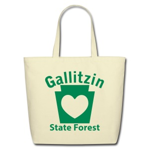 Gallitzin State Forest Keystone Heart - Eco-Friendly Cotton Tote