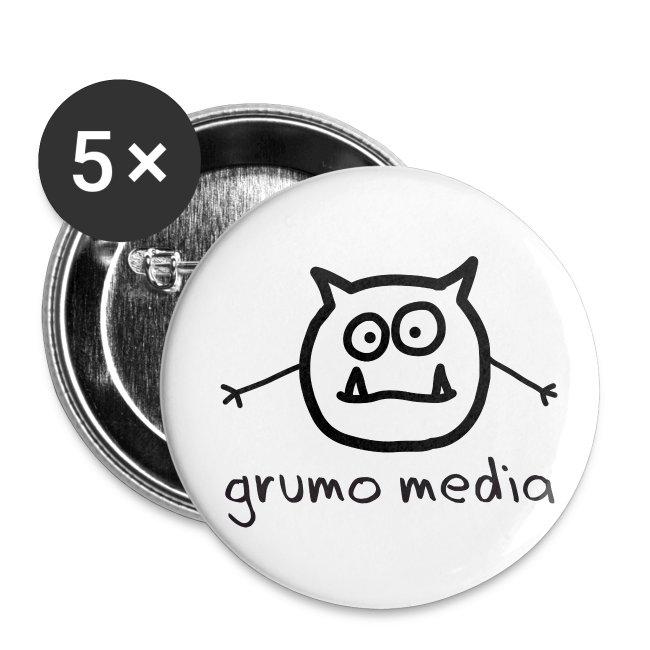 """Grumo Media - 1"""" Button"""