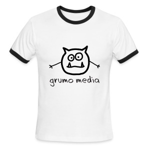 Grumo Media - Ringer Tee for Men - Men's Ringer T-Shirt